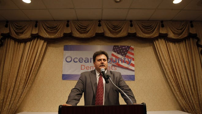 Ocean County Democratic Chairman Wyatt Earp speaks during a committee meeting of the county organization at the Quality Inn in Toms River. in this Asbury Park Press file photo.