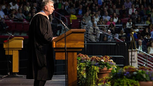 Washington Post Executive Editor Martin Baron delivered the commencement address for students in the School of Media and Communication at Temple University on May 6.