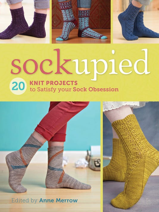 """Sockupied"" is a collection of 20 popular sock patterns from the Interweave emagazine of the same name."