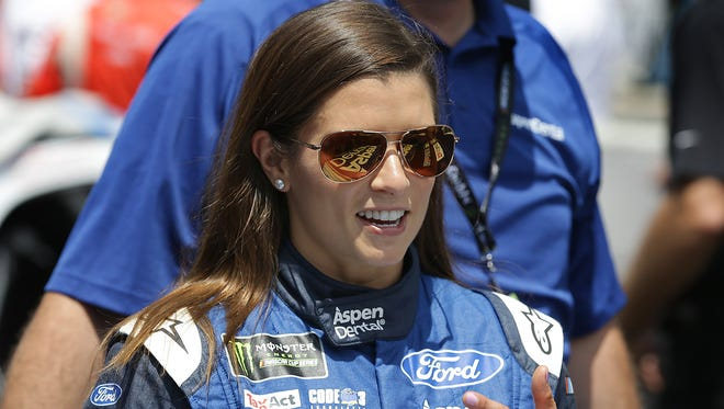 Monster Energy NASCAR Cup Series driver Danica Patrick (10) before the start of the Brickyard 400 Sunday, July 23, 2017, at Indianapolis Motor Speedway.