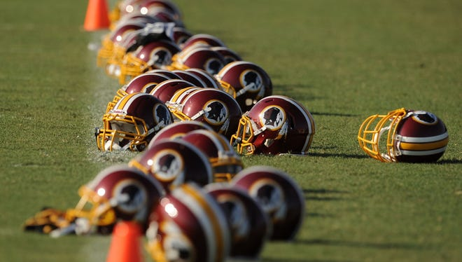 The U.S. Department of Justice announced on Friday it has intervened in a lawsuit filed by the Washington Redskins football team, which argues that part of a federal statute regulating trademarks violates the First Amendment. The government is supporting the position of six Native Americans who successfully argued for the U.S. Patent Office to cancel six of the Washington football teams trademarks. An appeals panel found the trademarks were derogatory to a substantial composite of Native Americans at the time the marks were granted.