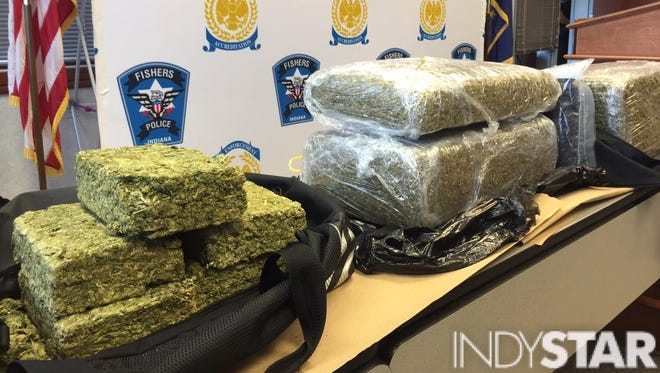 Fishers police say they confiscated 100 pounds of  marijuana in a recent drug bust.