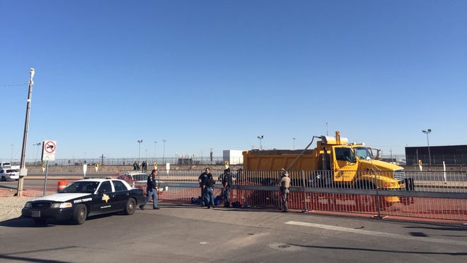 Law enforcement prevented people from entering the site on the U.S. side, near where Pope Francis gave his blessing to migrants in Juárez on Wednesday. The pope was in the border for a special Mass near the U.S.-Mexico border on the last stop on his tour of Mexico.