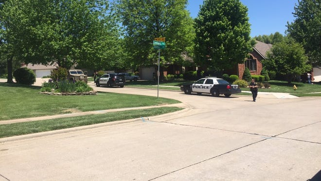 Police respond to a home on the 900 block of South Abbey Court where a man was allegedly shot by his cousin.