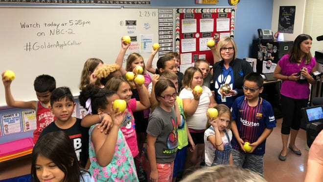 Staci Haralson Barretta, a third grade teacher at Big Cypress Elementary, is the recipient of a Golden Apple from Champions For Learning.
