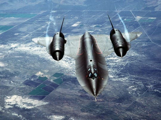 The SR-71, shown here in a file photo, routinely flew over 80,000 feet.