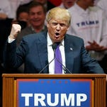 Republican presidential candidate Donald Trump speaks at a campaign rally Monday, Feb. 22, 2016, in Las Vegas.