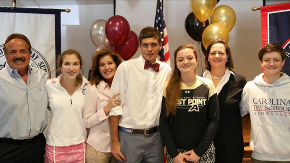 Carolina Day held a signing ceremony last week for seniors Kyle Cenderelli and Abigail Ward.