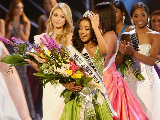 Miss Kansas, Hailey Colborn, was announced the winner