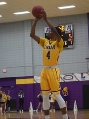 LSU of Alexandria's Anthony Stove attempts a 3-pointer