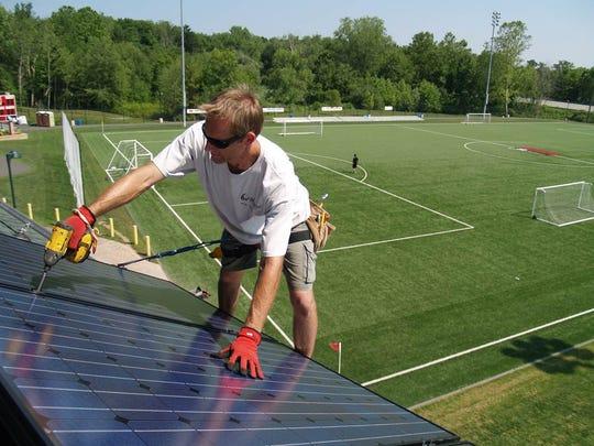 Solar panels were added to Orangetown Mighty Midgets'