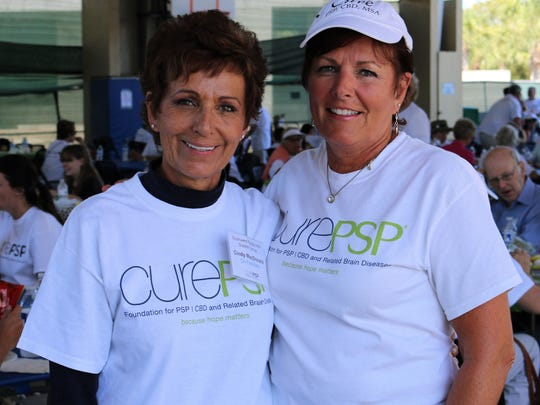 File: Event organizer Cindy MacDonald and her sister Theresa Bartley. On Saturday, March 18, 2017, over 200 participants attended the 14th Annual Cure PSP Awareness & Memorial Walk at Mackle Park.