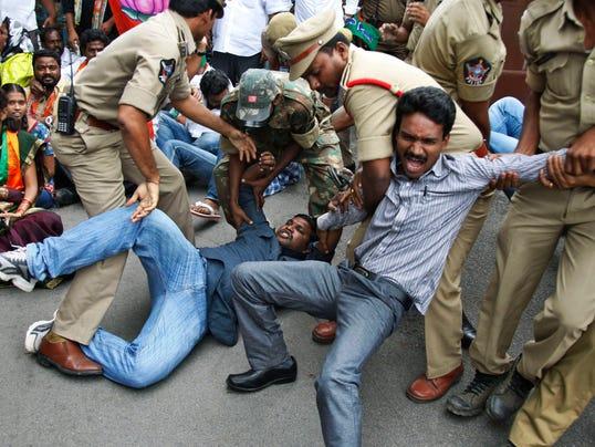 AP India Protest rape