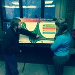 MDOT officials met with the public Wednesday to discuss plans for the I-96/US-23 interchange.