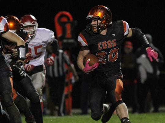 Jackson Hauger was one of nine Lucas seniors who reached the playoffs every year of their careers.