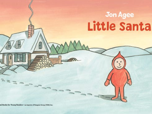 A peek inside 'Little Santa' by Jon Agee.
