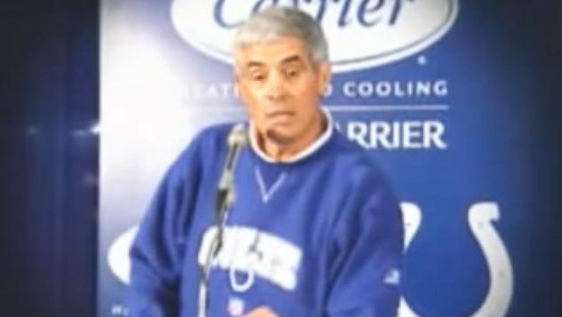 Jim Mora at a press conference