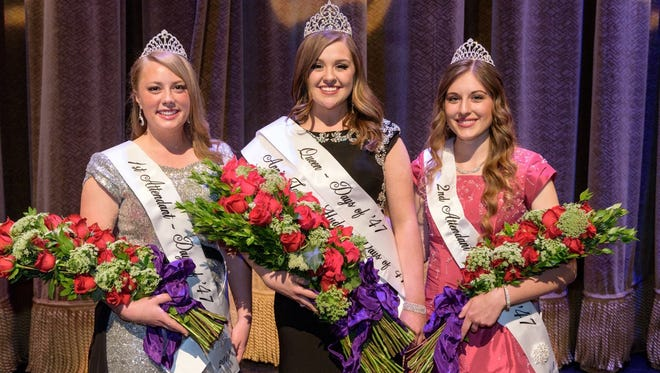 Days of /47 Queen Baylee Rose Hogan, center, and her two attendants, Rachel Kennedy, left, and Stephanie Bland, right, will be in St. George on Sept. 17.