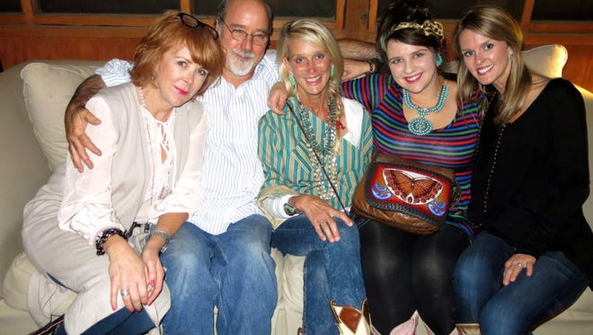 Tricia Anderson, Peter Flowers, birthday girl Tina Pickett, Golda Blaise, Summer Adams at birthday party.