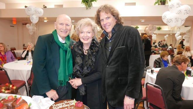Arthur Newman, Patty Newman, and entertainer  David Geist