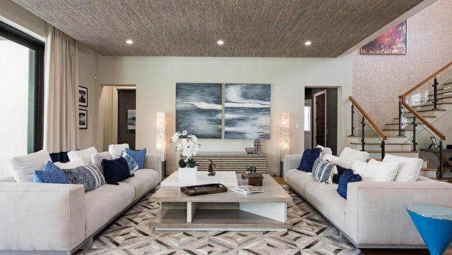 Clive Daniel completed the interior of this new home by Rocky Patel Luxury Living at 1240 Gulf Shore Boulevard S.