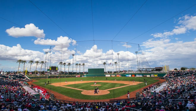 A view of Goodyear Ballpark, spring training home of the Cincinnati Reds and Cleveland Indians.