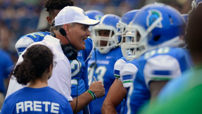 UWF football coach Pete Shinnick had his team pull off upset against one NCAA playoff team and scare another in first season.