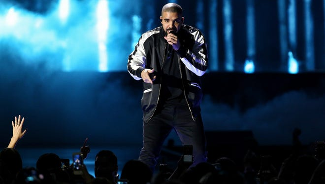 Drake performs at the 2016 iHeartRadio Music Festival at T-Mobile Arena in Las Vegas.