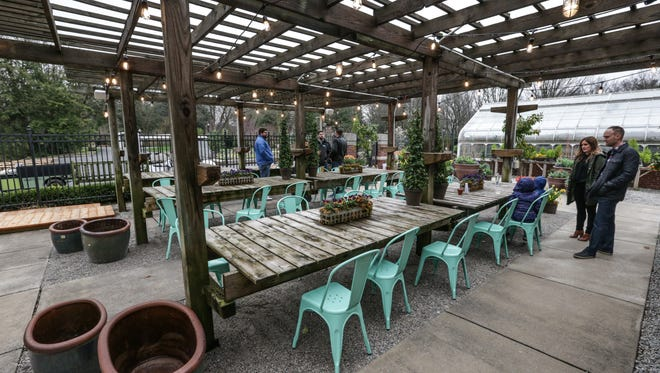 The IMA Beer Garden opens to the public, March 31, 2017. The public opening took place at the same time as the exclusive member reception celebrating Audubon: Drawn to Nature, Paula McCartney: Bird Watching,  and the Spring Blooms  Beer Garden.