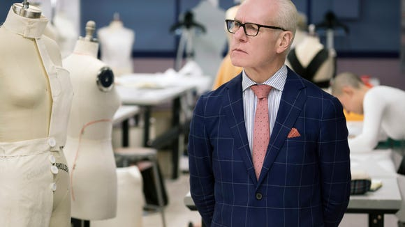 Tim Gunn critiques designs on the premiere of 'Project
