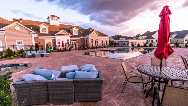 Resort-like amenities such as the clubhouse and pool are attracting buyers to Gateway at Royce Brook, an active-adult community in Hillsborough that is 70 percent sold in its first phase.