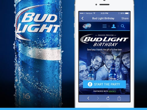Anheuser Busch And Facebook Tests Online Beer Gifts