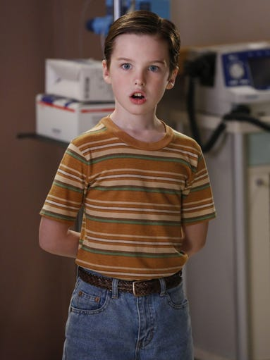 Iain Armitage plays a pint-sized Sheldon cooper on