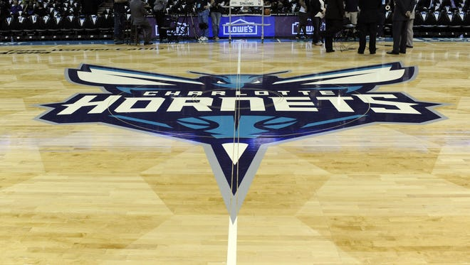 A general view of the Charlotte Hornets' logo.