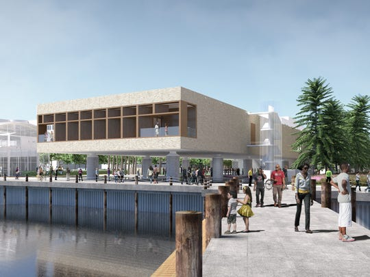 Artists rendering of the International African American Museum planned in Charleston.
