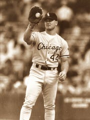 Dan Pasqua with the White Sox