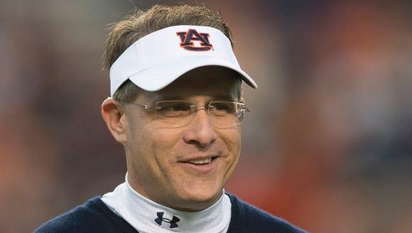 Auburn coach Gus Malzahn's team is up to No. 4 in the