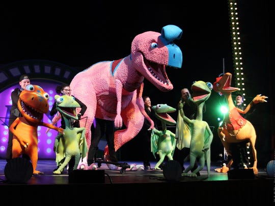 Nazareth College Arts Center hosts a touring production of Jim Henson's Dinosaur Train LIVE!: Buddy's Big Adventure on May 2.