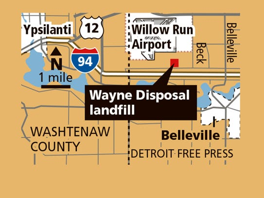 Map of Wayne Disposal Inc.