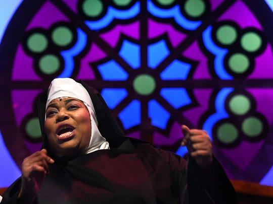 Condrea Weber plays the role of Deloris Van Cartier in Sister Act: The Musical at the Renaissance Theatre.