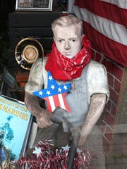 Window display at Rocco's Shoe Repair on Lafayette