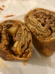 Blinchik, stuffed crepes, from Silk Road in south Fort