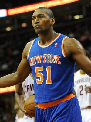 Metta World Peace did not get off the Knicks' bench very often.