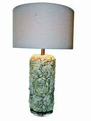Add Florida style to lighting with cream-colored shells.