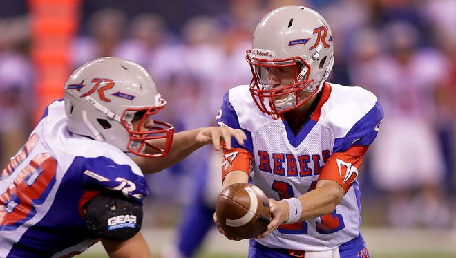 If Derek O'Connor (11) and Roncalli win the Class 4A state title, the Rebels will bump up to 5A in 2017.