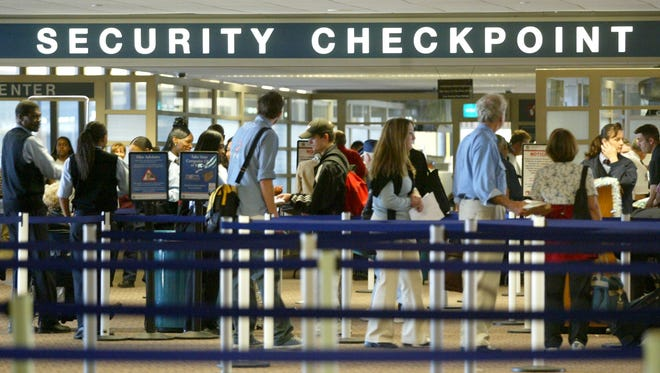 The security checkpoint at Terminal 4 at Sky Harbor International Airport.