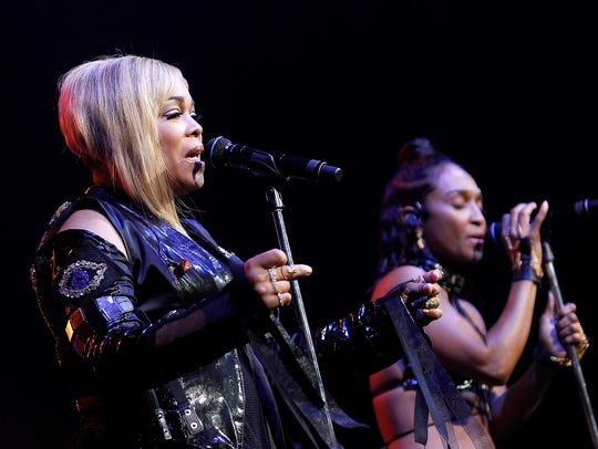 TLC perform as part of the I Love the 90's - The Party