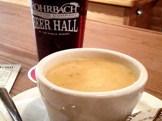 Cheddar Highland Soup from Rohrbach Brewing Company Beer Hall.