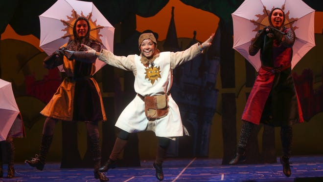 Rochester native and Geva favorite Jen Cody, shown here is last season's production of Spamalot, returns this season in Sylvia.