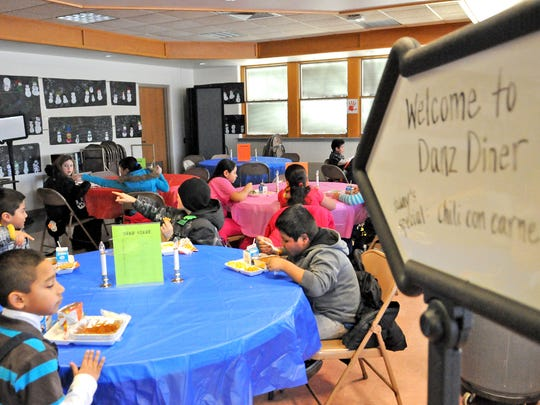 Danz Elementary students are treated to a formal dining experience Monday. Officials say it rewards kids and teaches them to be respectful.